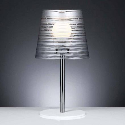 veioze contemporan cu decor argintiu, diametru 30 cm, Shana