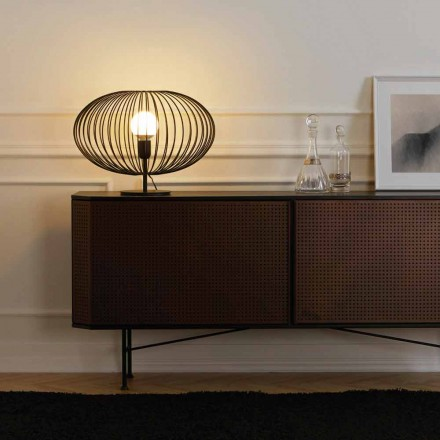 lampă de masă contemporană din oțel vopsit, 48xH35 cm, Gabriella