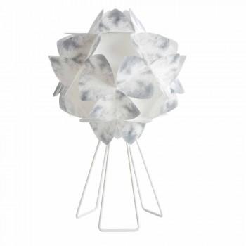 veioze contemporană din metal alb, diametru 46 cm, KALY