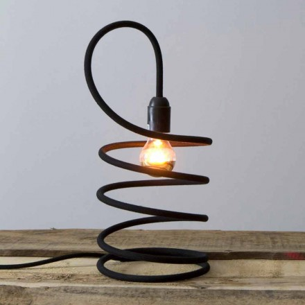 Lampă de masă modernă din cupru acoperită cu bumbac Fabricat în Italia - Fusilla