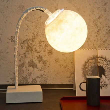 Lampă de masă modernă flexibilă din tulpină In-es.artdesign MicroT Luna