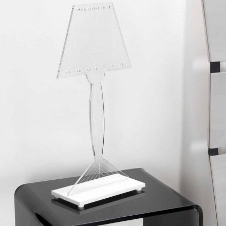 Lampă de masă turnată din plexiglas, lumină LED, Ferla
