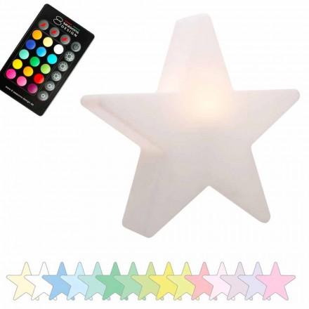 Lampă de masă solară sau LED, Design stea din polietilenă - Ringostar
