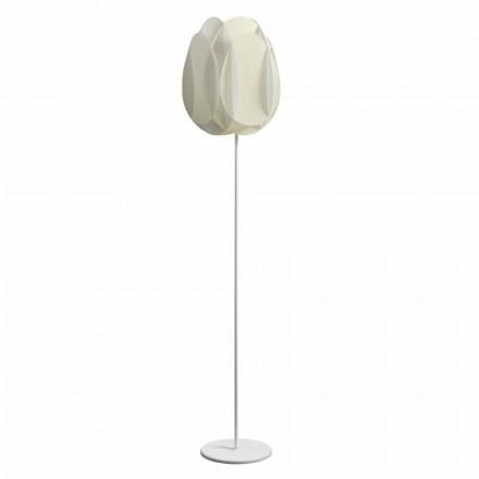 lampa de podea cu perla abajur alb, diam.40xH195 cm, Lora