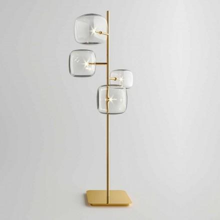 Lampă de podea design cu structură metalică lucioasă Made in Italy - Donatina