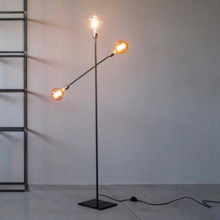 Lampă de podea design din fier cu lumini reglabile Made in Italy - Melita