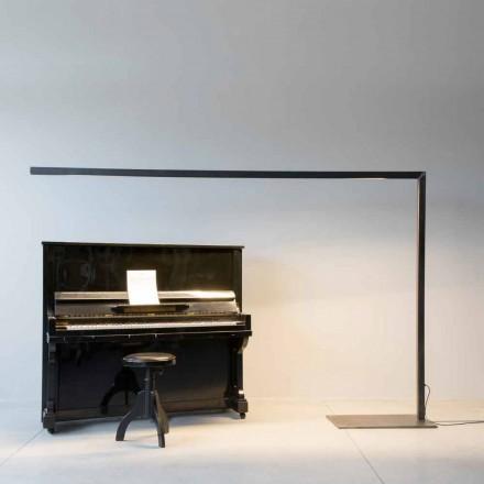 Lampă de podea design din fier negru cu bară LED Made in Italy - Barra