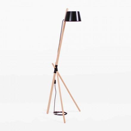 Lampă de podea design din lemn de fag și metal lăcuit - Avetta