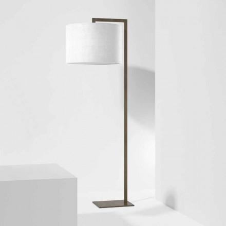 Lampă de podea design din metal cu abajur din in Made in Italy - Bali