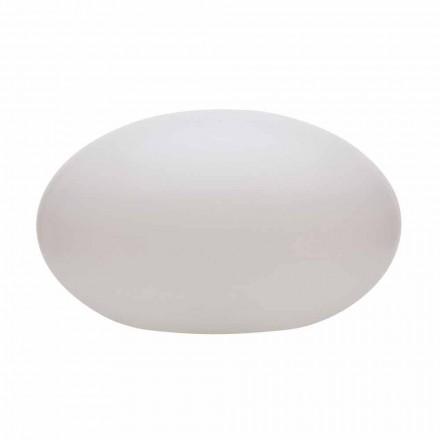 Lampă de podea cu led, solar sau E27 de design oval modern colorat - Uovostar