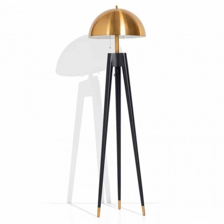 Lampă de podea modernă din metal și alamă periată Made in Italy - Peter