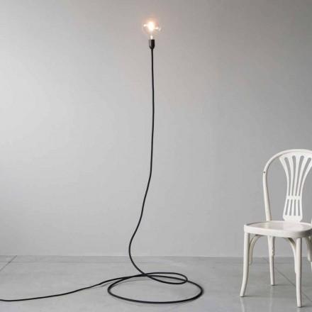 Lampă de podea modernă din cupru și bumbac lucrat manual Made in Italy - Guapa