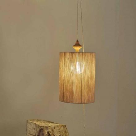 Lampă de suspensie / suspensie din lemn și nisip Bois lână