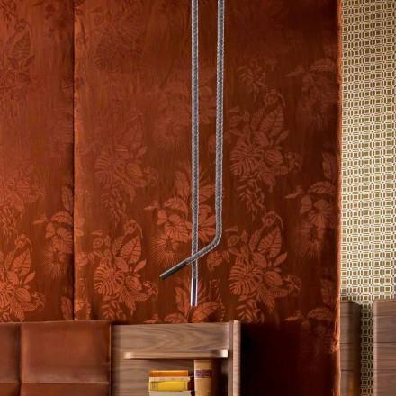 Grilli Snake fabricat în Italia din piele și lampă de design metalic