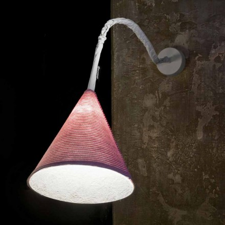 Lampa de perete de design In-es.artdesign Jazz O lână colorată de tip Stripe