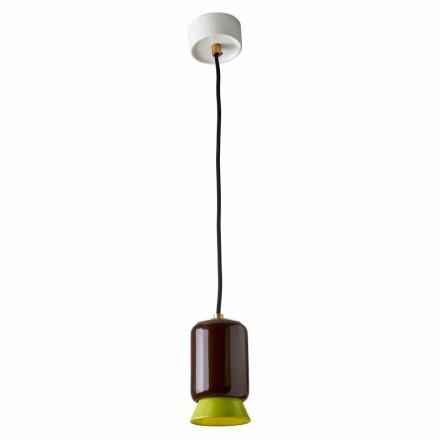 Lampa de suspendare din ceramica colorata fabricata in Italia Asia