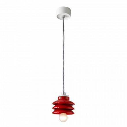 Design pandantiv lampă în ceramica roșie făcute în Italia Asia