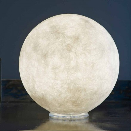 Lampa de design de tabel In-es.artdesign T.moon in nebulita alba
