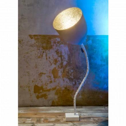 Lampa de podea de proiectare In-es.artdesign Ciment vopsit cu flori