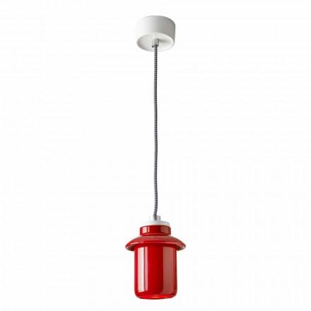 Lampă de proiectare suspendată în ceramică roșie făcută în Italia Asia