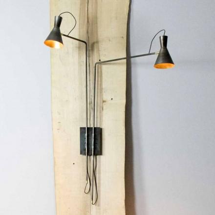 Lampă de perete dublă Fabricată manual în fier și aluminiu Fabricat în Italia - Selina