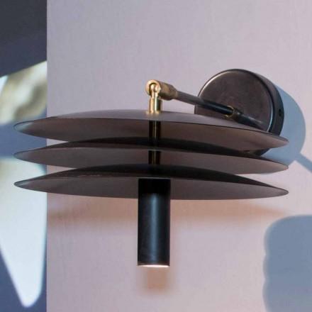 Lampă manuală din fier cu acidare întunecată cu LED Made in Italy - Solano
