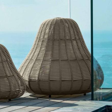 Lampă de design mare Jackie Talenti pentru grădină în frânghie sintetică