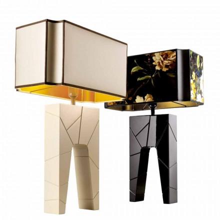 Grilli Zarafa a făcut Italia din lemn masiv / lampă de masă