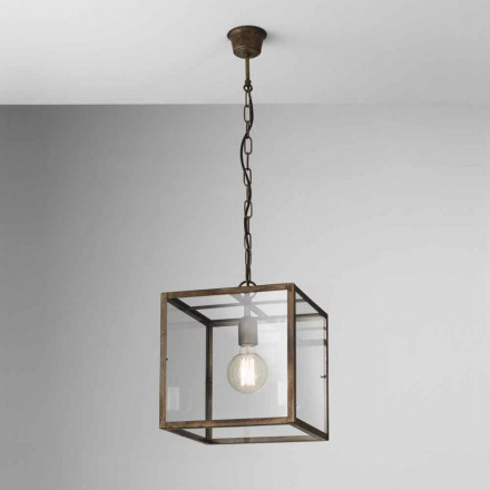 Lampa industriale în suspensie de fier Londra Il Fanale