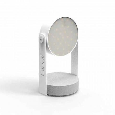 Lampă de masă pentru exterior, din aluminiu alb sau grafit - Tofee by Talenti