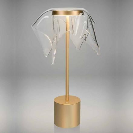 Lampă LED tactilă din metal colorat și plexiglas transparent - Tagalong