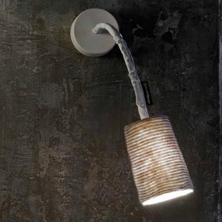 Lampă de perete modernă In-es.artdesign Vopsea Un nebulit și lână în formă de striat