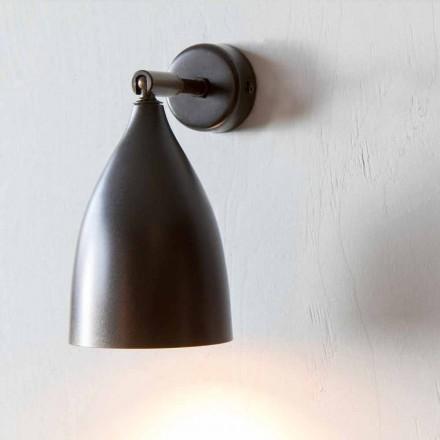 Lampă de perete artizanală din fier și aluminiu Fabricat în Italia - Conica