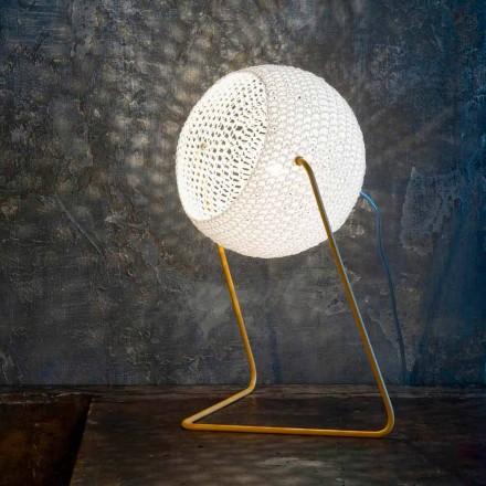 Lampă de masă modernă In-es.artdesign Textură de bumbac manual T1