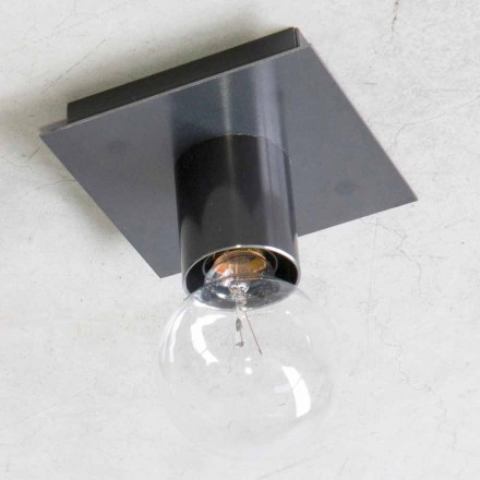 Lampă de perete realizată manual din fier negru sau Corten Made in Italy - Alabama
