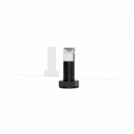 Lampă de masă modernă din metal negru și plexiglas Fabricat în Italia - Dalbo