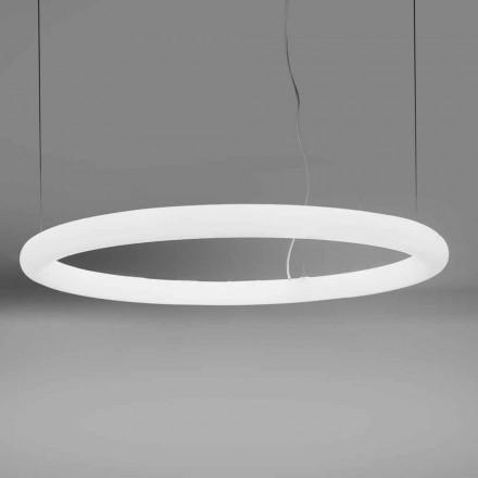 Lampă rotundă cu suspensie LED din polietilenă Made in Italy - Slide Giotto