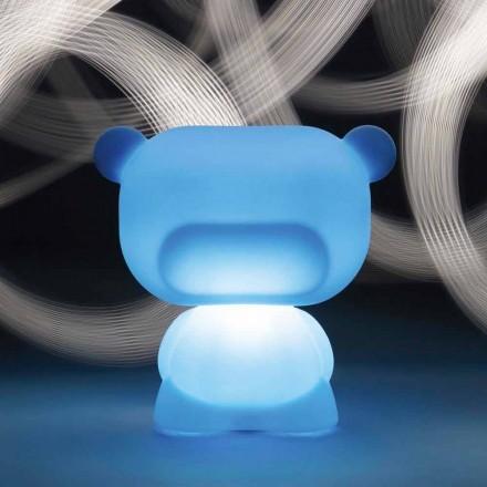 Lampă de masă luminată în formă de urs cu diapozitiv pur, fabricată în Italia