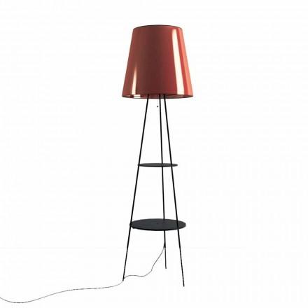 Lampă de podea din metal negru și cupru cu mufă USB Made in Italy - Dixie