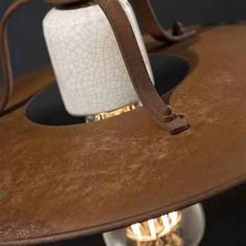 artizanat și în jos din ceramică lampă și metalo Kristen Ferroluce