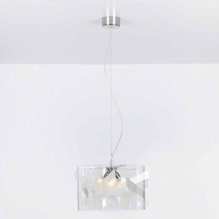 lampă pandantiv 3 lumini metacrilat de specrall diam.75 cm Nicole