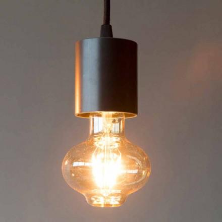 Lampă suspendată manuală din fier, cu cablu de bumbac, fabricată în Italia - Frana