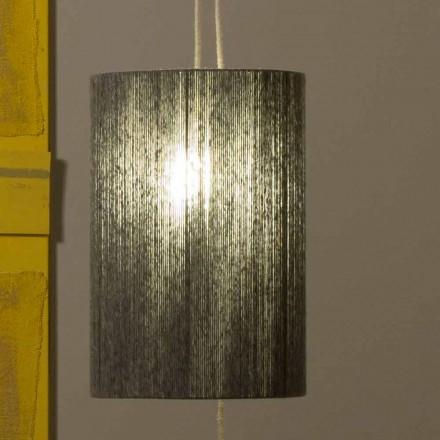 Lampă suspendată / etajată din alamă și lână fabricată în Italia Evita