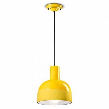 Lampa suspendată în stil modern din ceramică făcută în Italia - Ferroluce Caxixi