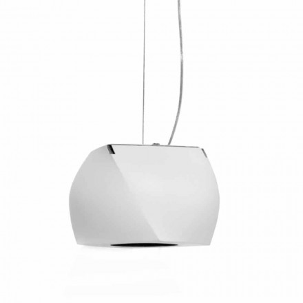 Lampă suspendată de design din metal și rășină albă Fabricată în Italia - Beijing