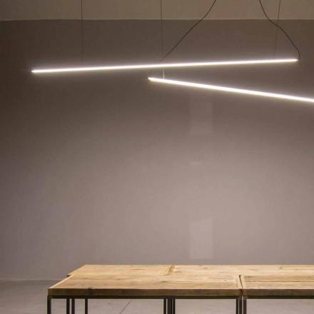 Lampă suspendată realizată manual din aluminiu cu bară LED Made in Italy - Ledda