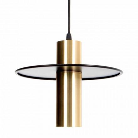 Lampă suspendată manuală din fier și alamă cu LED Fabricat în Italia - Astio