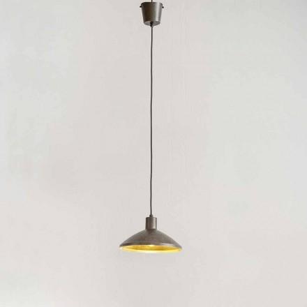 Lampa suspendată din oțel antic diametru 310 mm - Materia Aldo Bernardi