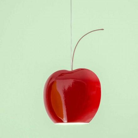 Lampă ceramică suspendată în cireș - fructe Aldo Bernardi