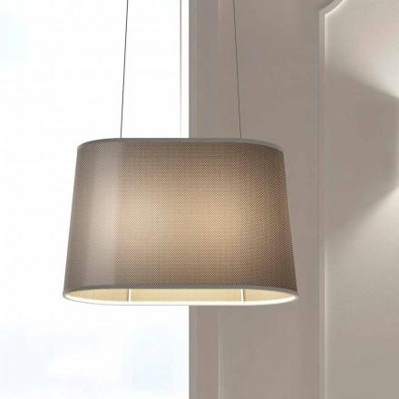 Lampă metalică suspendată cu abajur cu plasă sau in fabricat în Italia - Jump